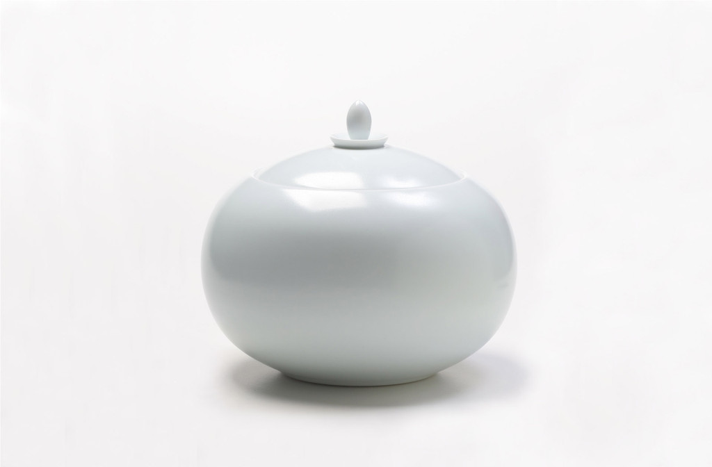 Vessel. Porcelain with celadon glaze.