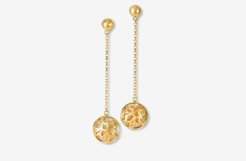 Earrings <em>Flora</em>. 925 silver plated with fine gold