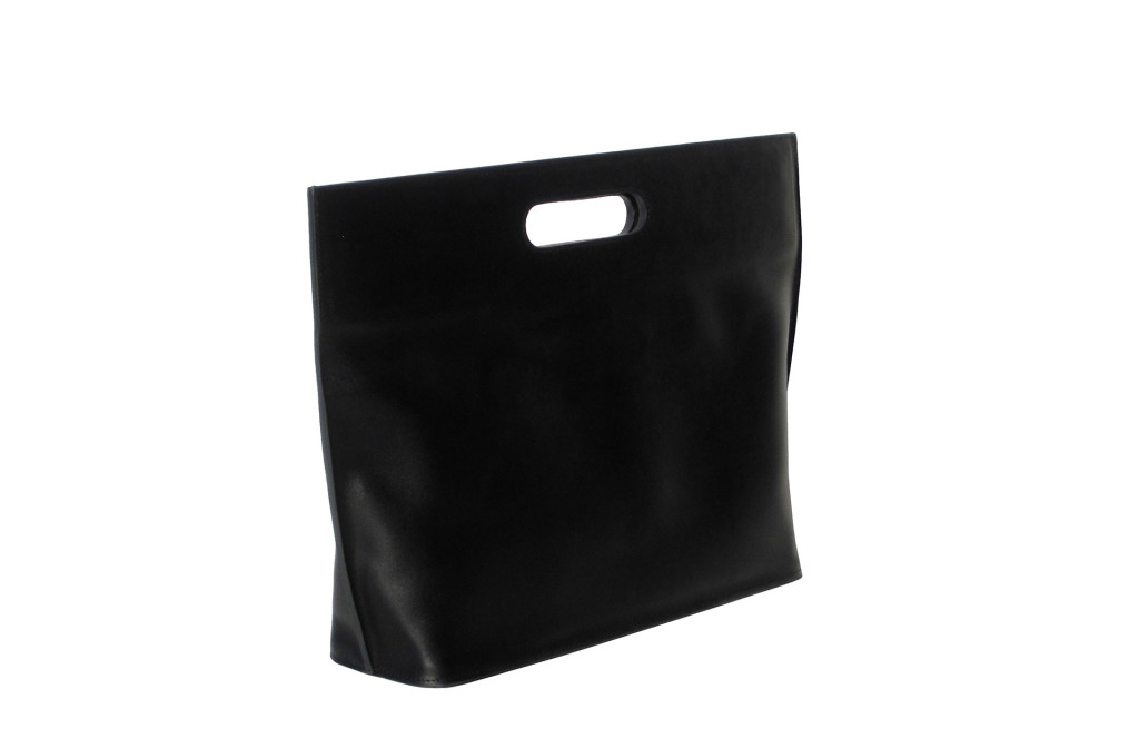 Bag with handles. Calf leather even. 44 × 29 × 10 cm