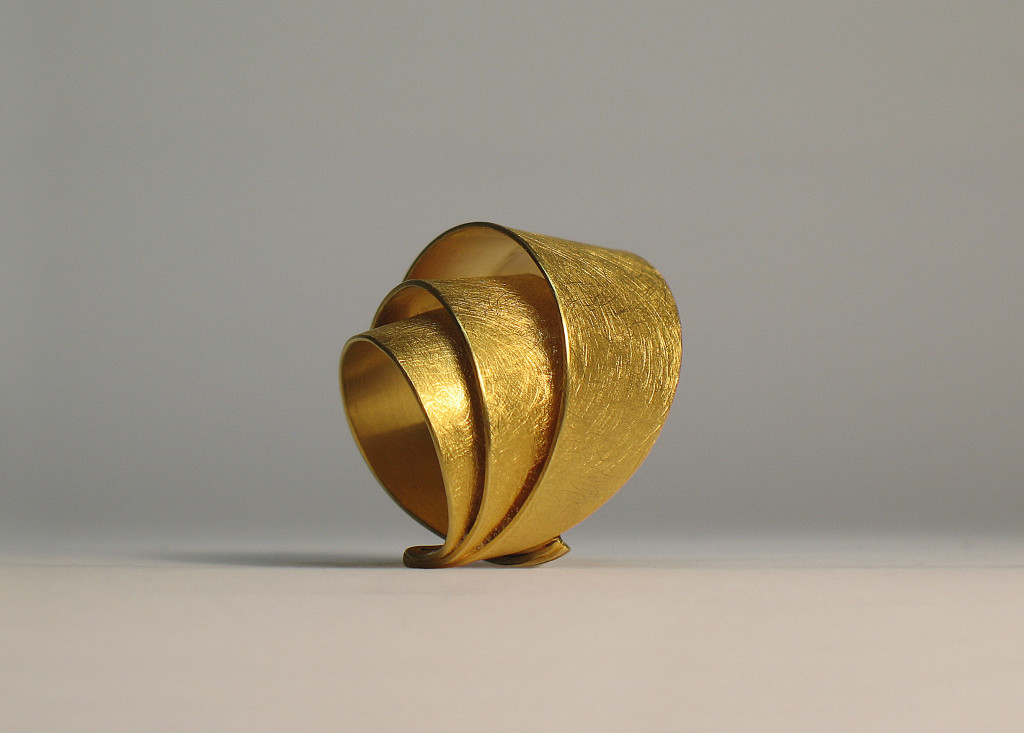 Ring, 925 silver, gilded.