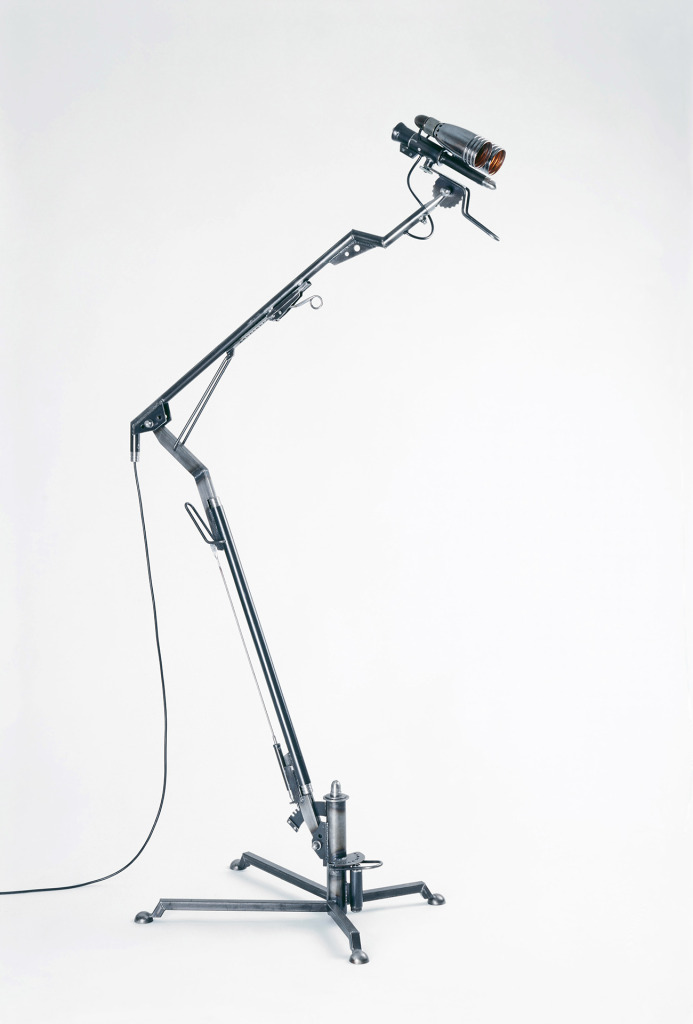 <em>Agent</em> floor lamp. Copper, steel