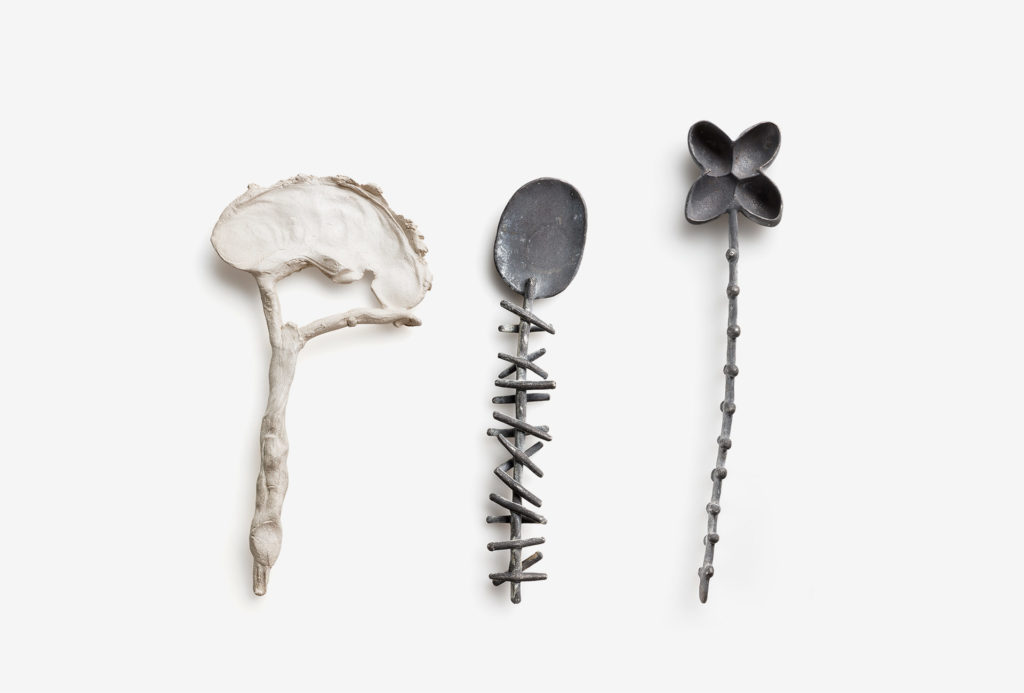 Spoon from the <em>creatura</em> series. 925 silver. Photo Federico Cavicchioli