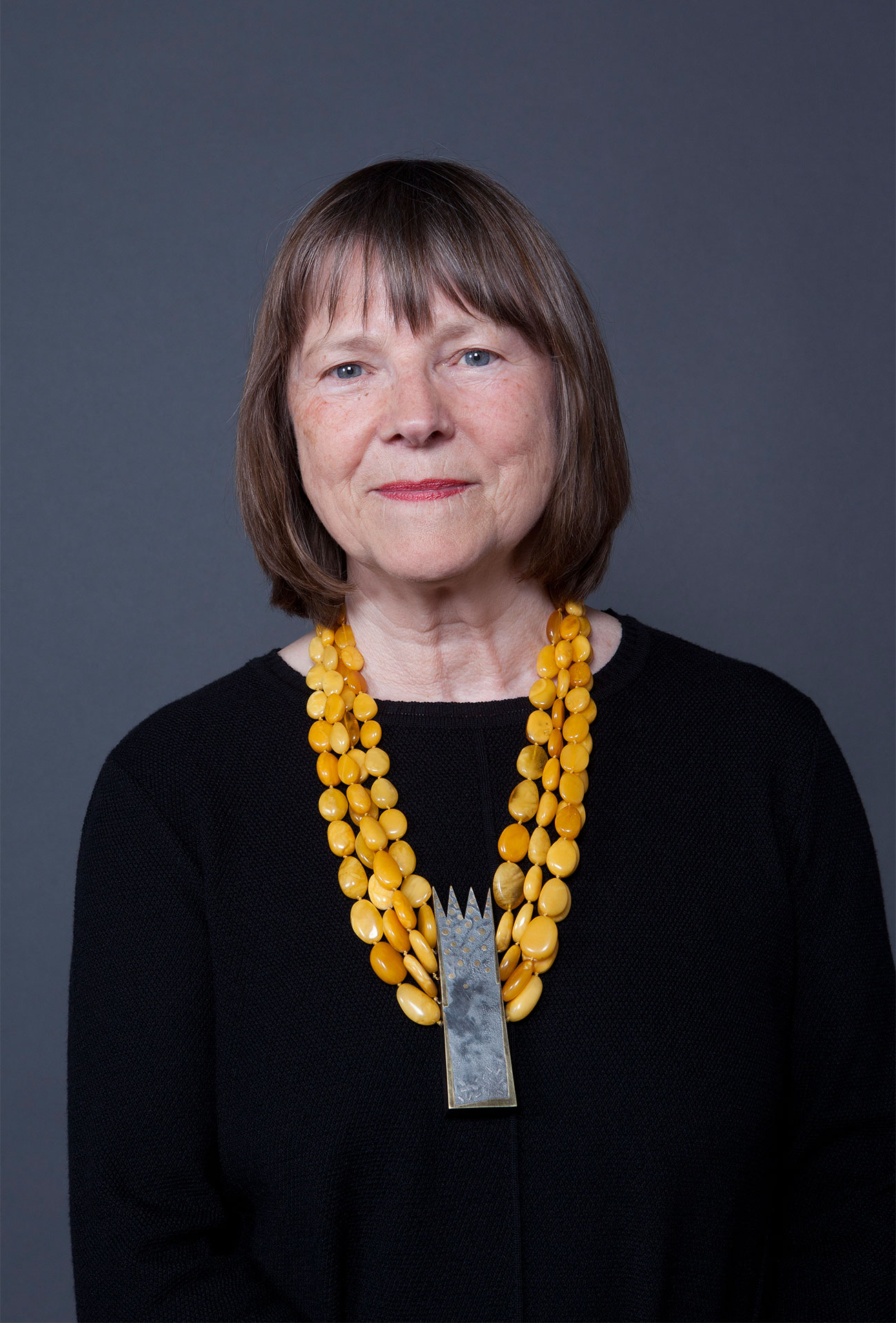 Gabriele Heinz with necklace